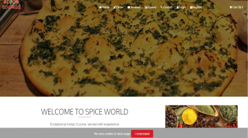 Spice World Restaurant Web portal Mob APP + EPOS