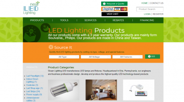 NEAT LED Shopping website for lighting products