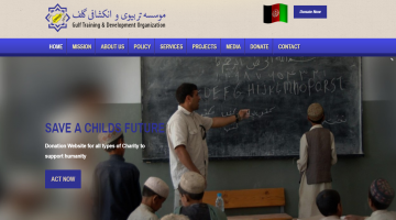Afganistan based NGO website